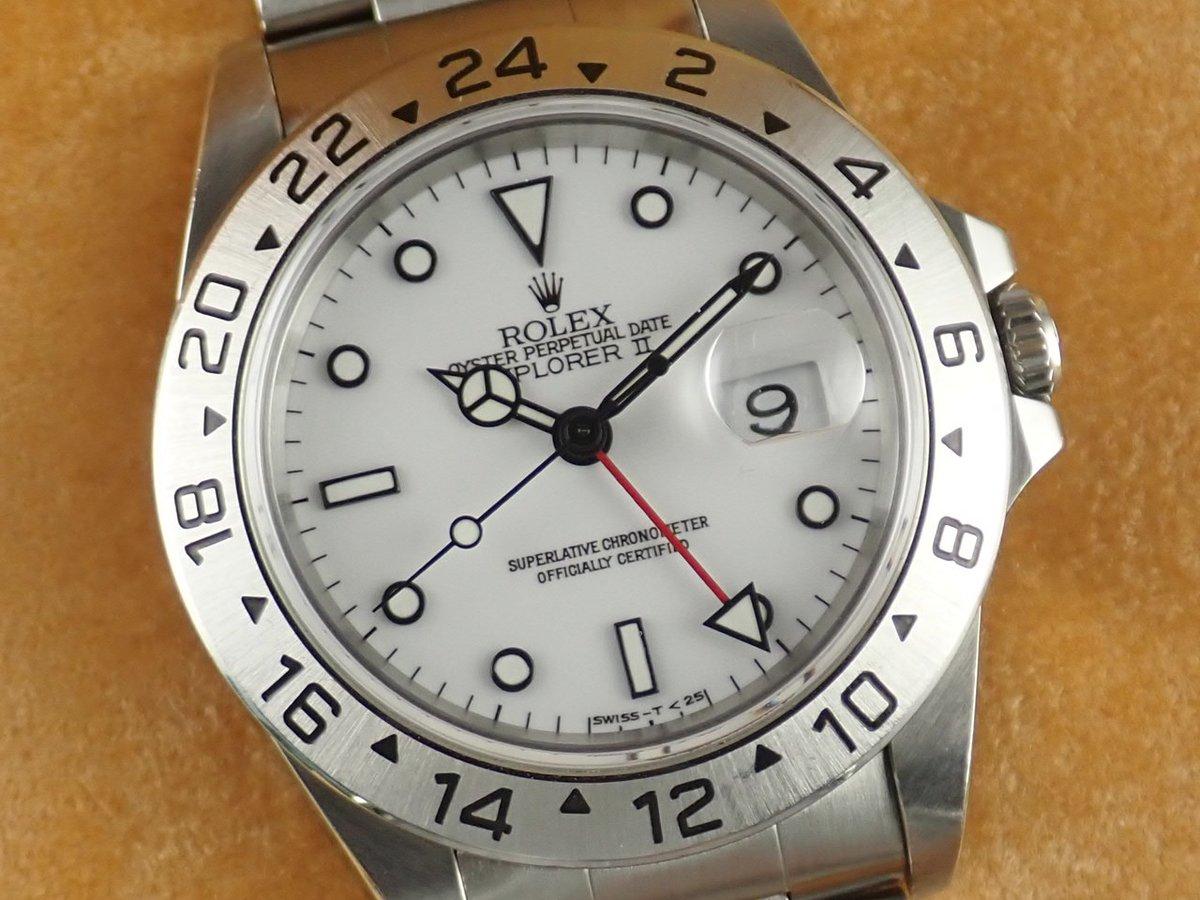 test ツイッターメディア - 人気の定番モデルであるエクスプローラーⅡ。 デイト表示に加え、GMT機能など充実した機能面を保持している魅力的な一品。  #ロレックス #エクスプローラー #白文字盤 #ROLEX #explorer #高級腕時計 #高級時計 #腕時計 #時計 #コミット銀座 https://t.co/axVqXPscju