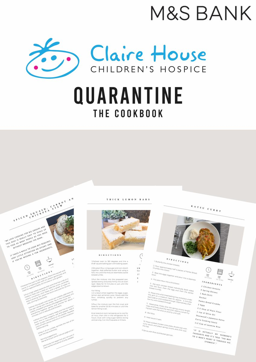 We think @MandSBank are amazing for coming up with new ideas to carry on supporting our children & families during lockdown 👏🥰  The team have found creativity in cooking & therapy in baking & have created their very own Quarantine Cookbook👉https://t.co/7UP9Vy9oDK https://t.co/qZWbSNzieW