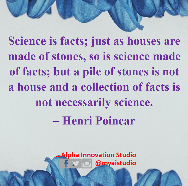 The logical, systematic arrangement of #facts makes up #science.  #SciCommpic.twitter.com/M9OfPbprNw