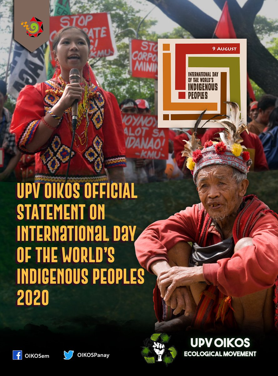 UPV OIKOS OFFICIAL STATEMENT ON INTERNATIONAL DAY OF THE WORLD'S INDIGENOUS PEOPLE  #StopTheAttacks #DefendAncestralLands #NoToJalaurMegadam #NoToDevelopmentalAggression #OUSTDUTERTE pic.twitter.com/pjrFcrnqY9