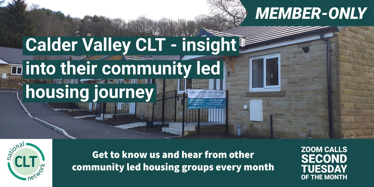 One not to be missed by @community_land members.  Members regularly meet by Zoom to receive insight and best practice from others in the community-led housing movement. @CVCLT1 are a great example! #ukhousing #communitiescreatinghomes https://t.co/B2aouymgop