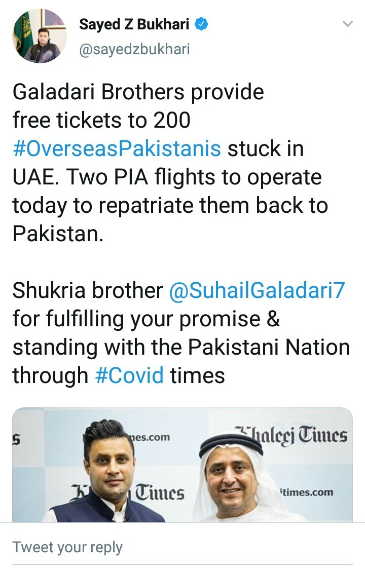 Pakistan has gone bankrupt as the government of @ImranKhanPTI had to ask the owner of #KhaleejTimes to buy 200 #PIA (national flag carrier) tickets so that it can repatriate its stranded citizens from UAE. WHAT A SHAME! https://t.co/8F6HDeZiAg