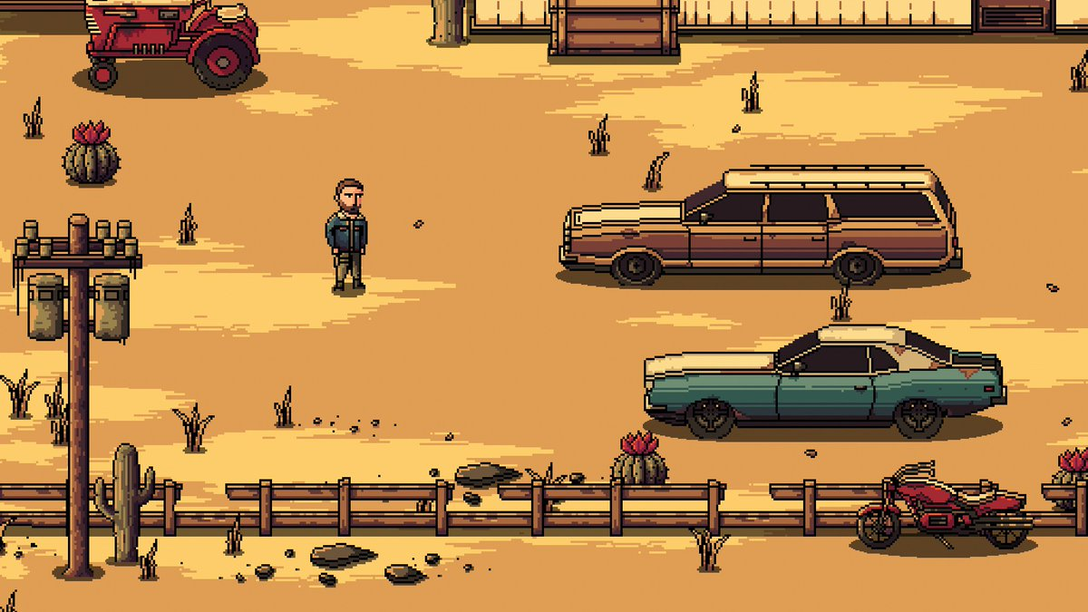 Made an alternative version of the station wagon, this one is more blocky. Think I just need to let it be for now or I'll still be working on it in the year 2525. #pixelart #gamedev #madewithunity #indiedev #indiegame #gaming #videogames #gameart #unity3d #aseprite pic.twitter.com/S6kK7YCViy