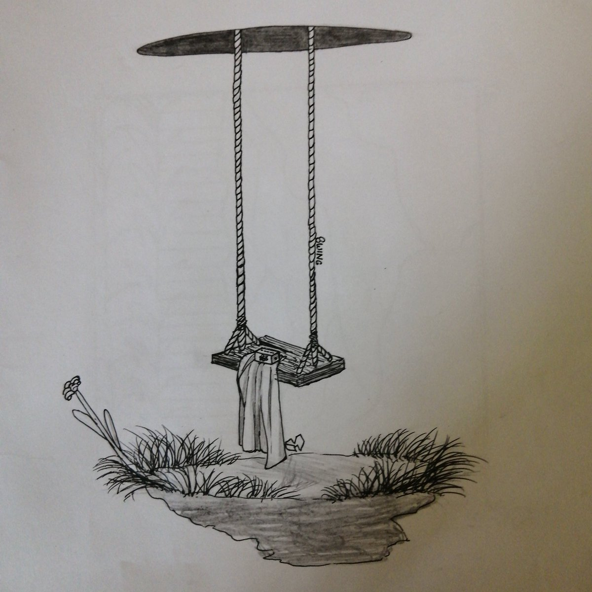 I did this one for the last inktober.  #inktober #swing #draw #drawing #blackandwhite #traditionalart #art #artist #island #simple #inkpic.twitter.com/bfppcE0Yzj