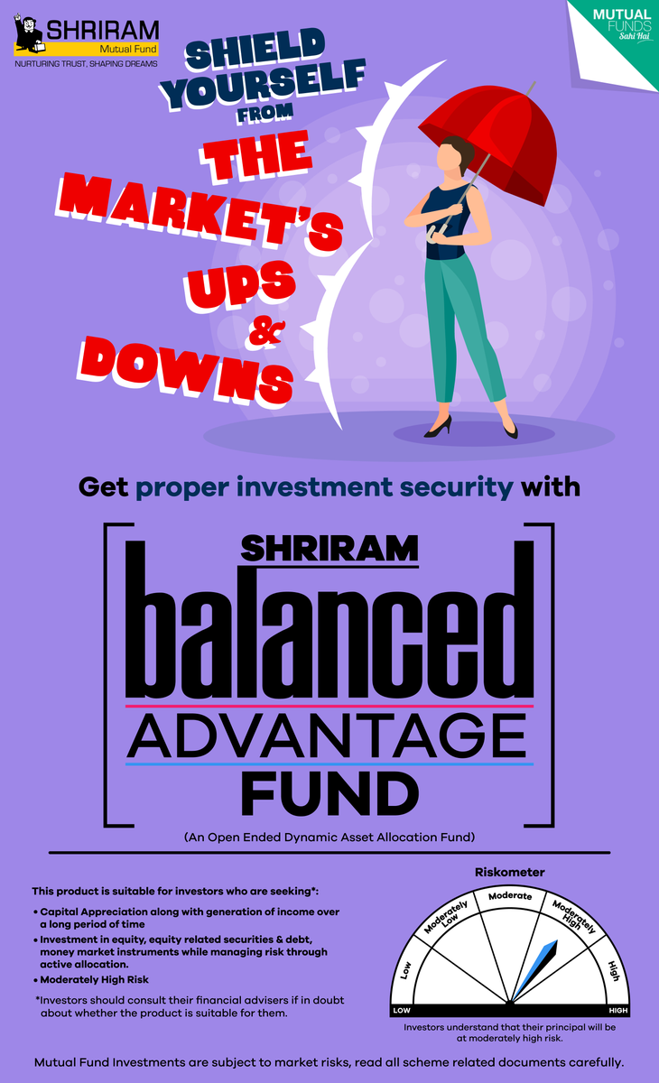 #Shriram #Balanced #Advantage #Fund employs #dynamic #asset #allocation and #hedged #equity to #soften the #effects of #market #volatility on your #investments.  To know more, visit: https://t.co/4cafRCSpGi https://t.co/TS7XZ96lZi