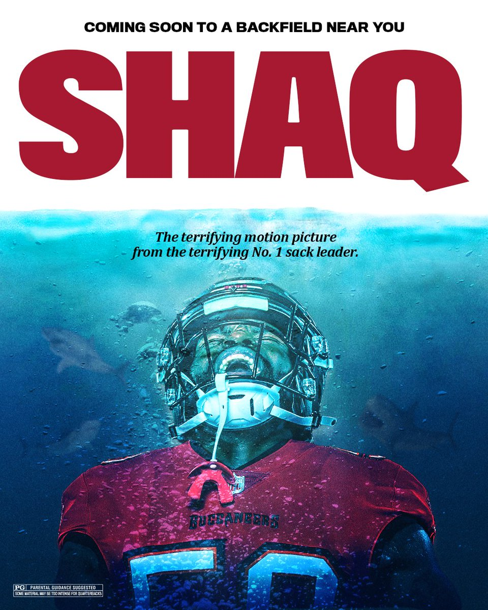 RT @Buccaneers: Welcome to Shaq Week 🦈 https://t.co/f910qgue5z