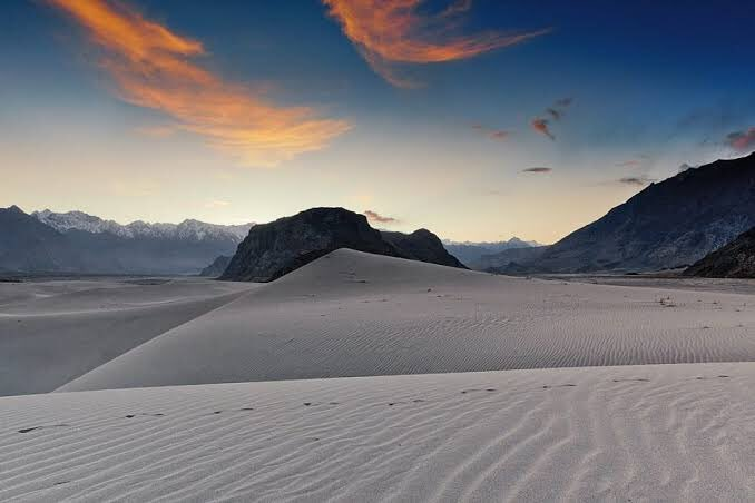 One of the most exciting tourist destinations in Pakistan; the cold desert in Skardu.   You're welcome here again. Just, follow the SOPs i.e wearing masks, sanitizing hands, maintaining safe distance from others, while visiting Skardu this season!   #PakistanOpensTourism https://t.co/sdnAMG9VjJ