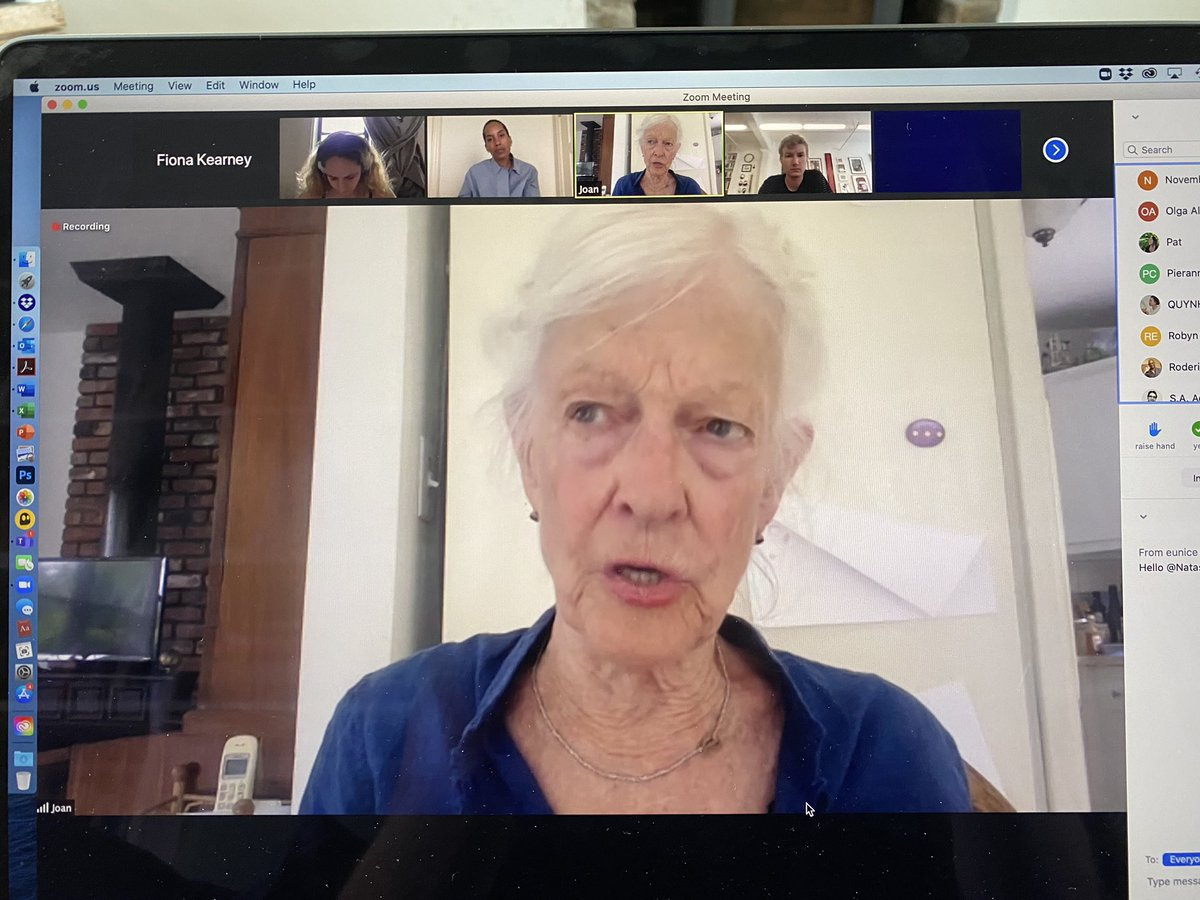 Wonderful to hear Joan Jonas and Daisy Derosiers in an exploratory conversation that acknowledges the psychic exhaustion of video conferencing. Thank you @BrooklynRail for organising this. https://t.co/ire3XCkzWh