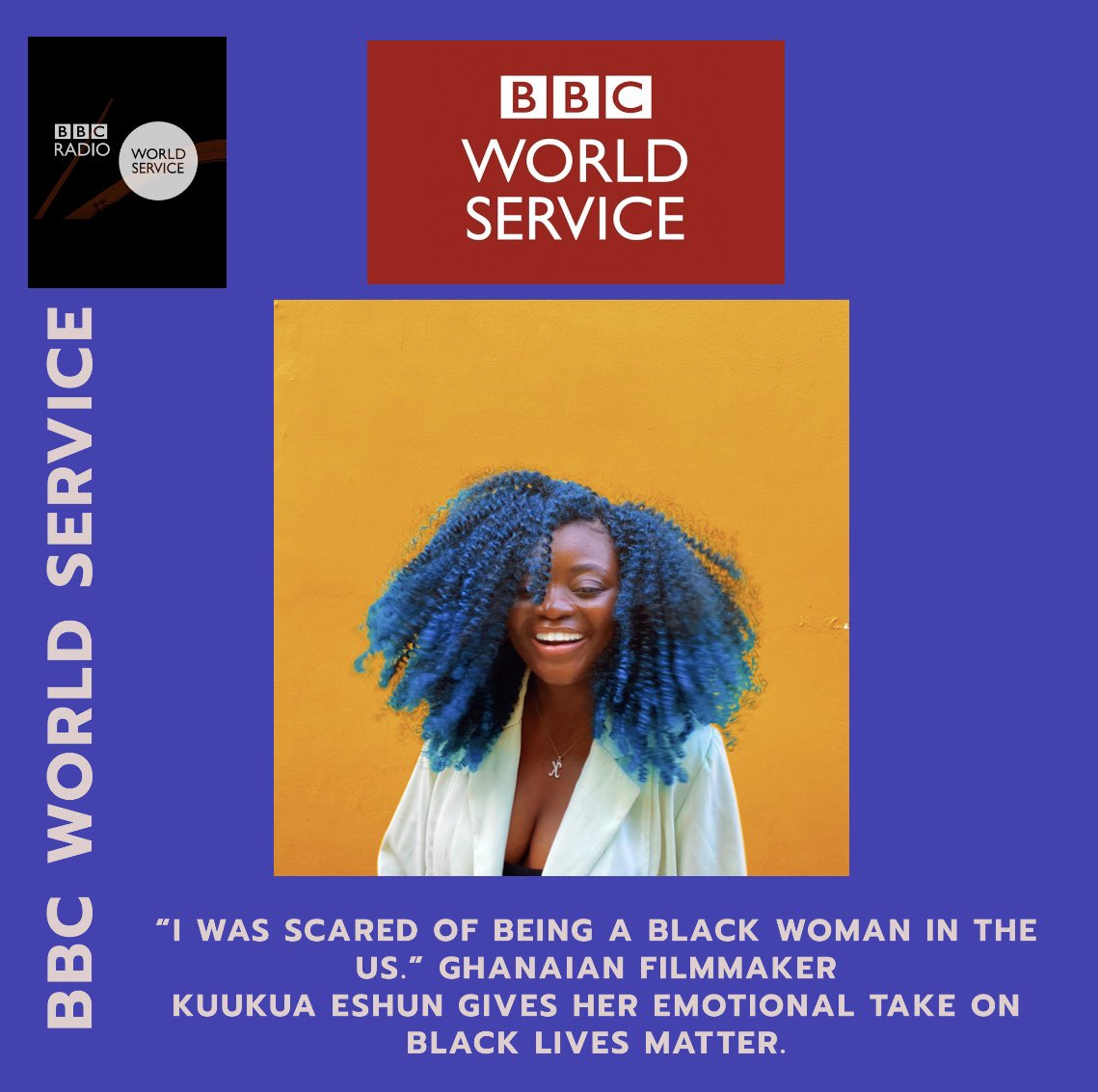 Spoke to @bbcworldservice x @BBCRadioLondon about my journey. Why I moved to Ghana and how it changed my life + plus what it means for me to be a filmmaker.  Tune in ❤️ https://t.co/1cmnShKhZh