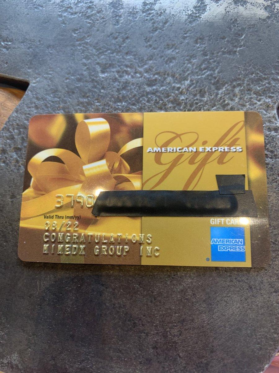 Each @MiMedx Gift Card had $500 on it