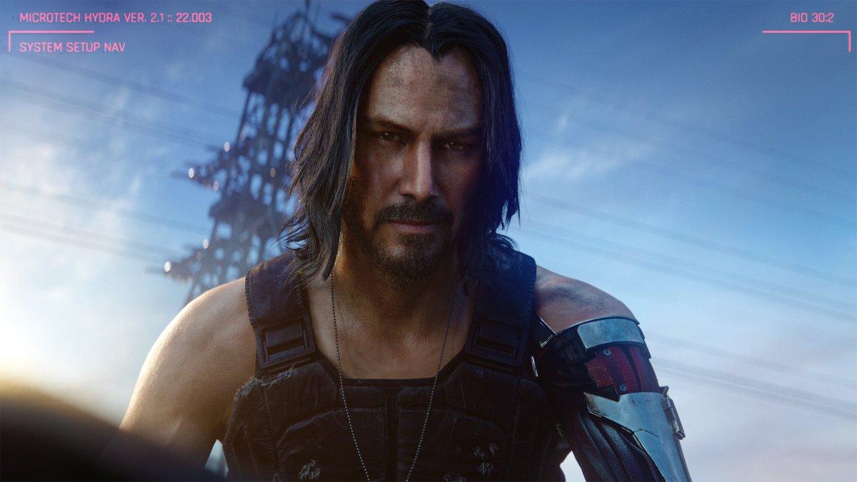 مقارنة شخصية الممثل Keanu Reeves في لعبة Cyberpunk 2077 بين العروض السابقة والحالية pic.twitter.com/MisBZAs3y3