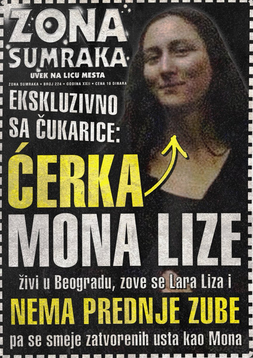 Ćerka Mona Lize se zove Lara Liza i nema prednje zube