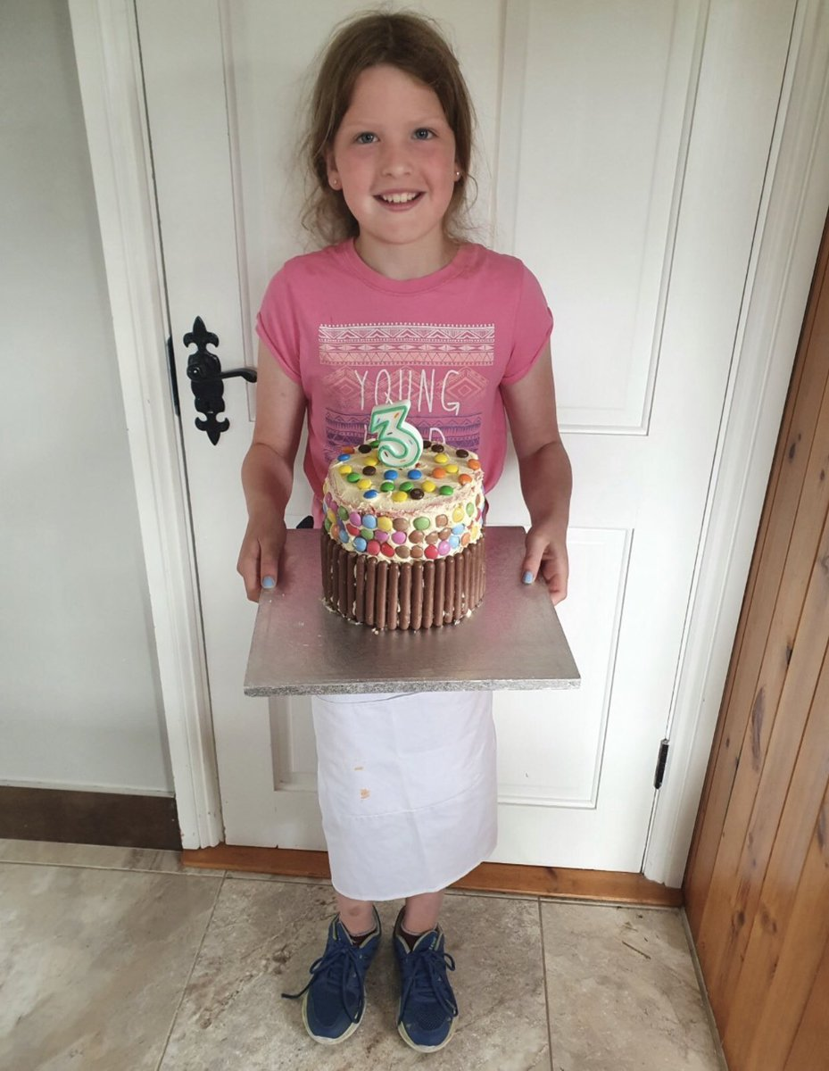 Another great entry for the #GreatCorkBakeOff from 10 year old Elle Kent. Elle made this 6-tiered rainbow cake for her cousin during lockdown. (Entries are now closed). https://t.co/C0VjBqsisI.. https://t.co/yqpclUIcg1