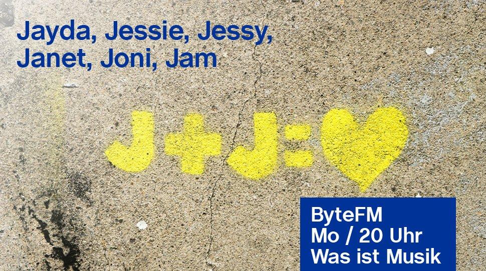 """test Twitter Media - Eine Namensparade mit dem Anfangsbuchstaben """"J"""" führt ByteFM Moderator Klaus Walter heute an. Mit dabei sind Jayda G., Joni Mitchell, @JessieWare, @JanetJackson und @jessy_lanza. → https://t.co/JYKAZ4S0WD https://t.co/9hLJXXiA4d"""