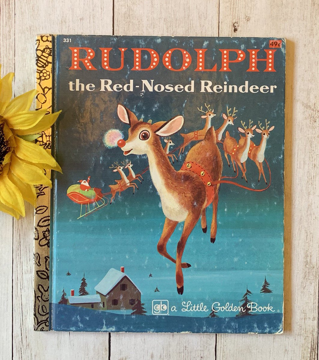 Vintage 1975 Rudolph the Red-Nosed Reindeer, Golden Book, Children's Book, Vintage Christmas, Christmas Book, Christmas Story, Junk Journal #etsy #blue #birthday #christmas  #richardscarry #christmasephemera #christmasdecor #bedtimestory #christmasbook https://etsy.me/2PShcrP pic.twitter.com/U54JxLIn3W