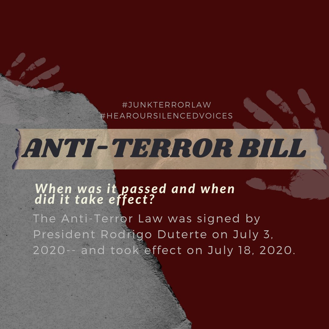 THREAD ON THE CURRENT STATE OF THE PHILIPPINES    Costs 0 to RT and spread awareness   #JunkTerrorLaw pic.twitter.com/KaRrSGtgN1