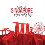 Image for the Tweet beginning: Singapore's #NationalDay is held each
