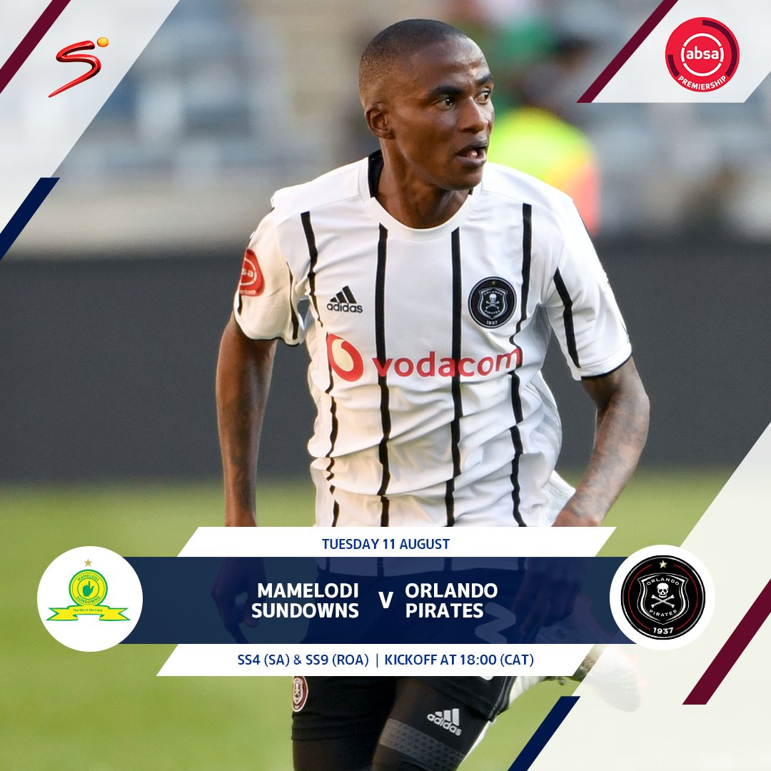 Absa Premiership action makes a return tomorrow in a heavyweight clash between @Masandawana and @OrlandoPirates. 👆 A win for Downs would put them one-point behind @KaizerChiefs. ☠️ Pirates can climb to third with a win. #SSDiski