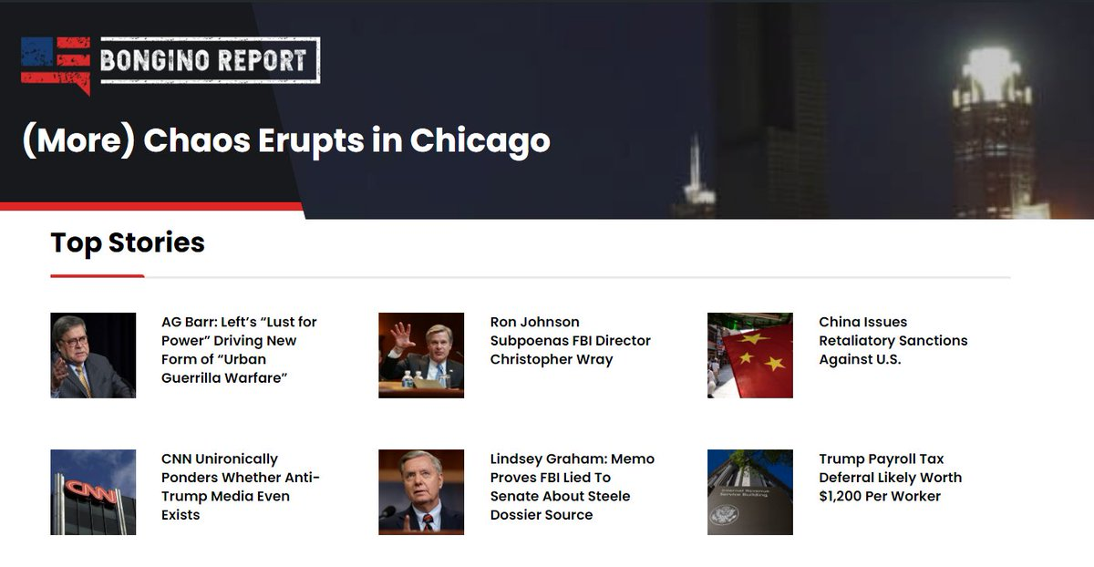 Our top stories this morning BonginoReport.com