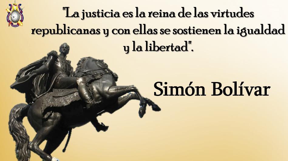 """🗣️""""La justicia es la reina de las virtudes republicanas y con ellas se sostienen la igualdad y la libertad."""" Simón Bolívar  #FlexibilizaciónParcialConsciente  #FANB  #EjercitoBolivarianoBicentenario https://t.co/fpG4nSAmji"""