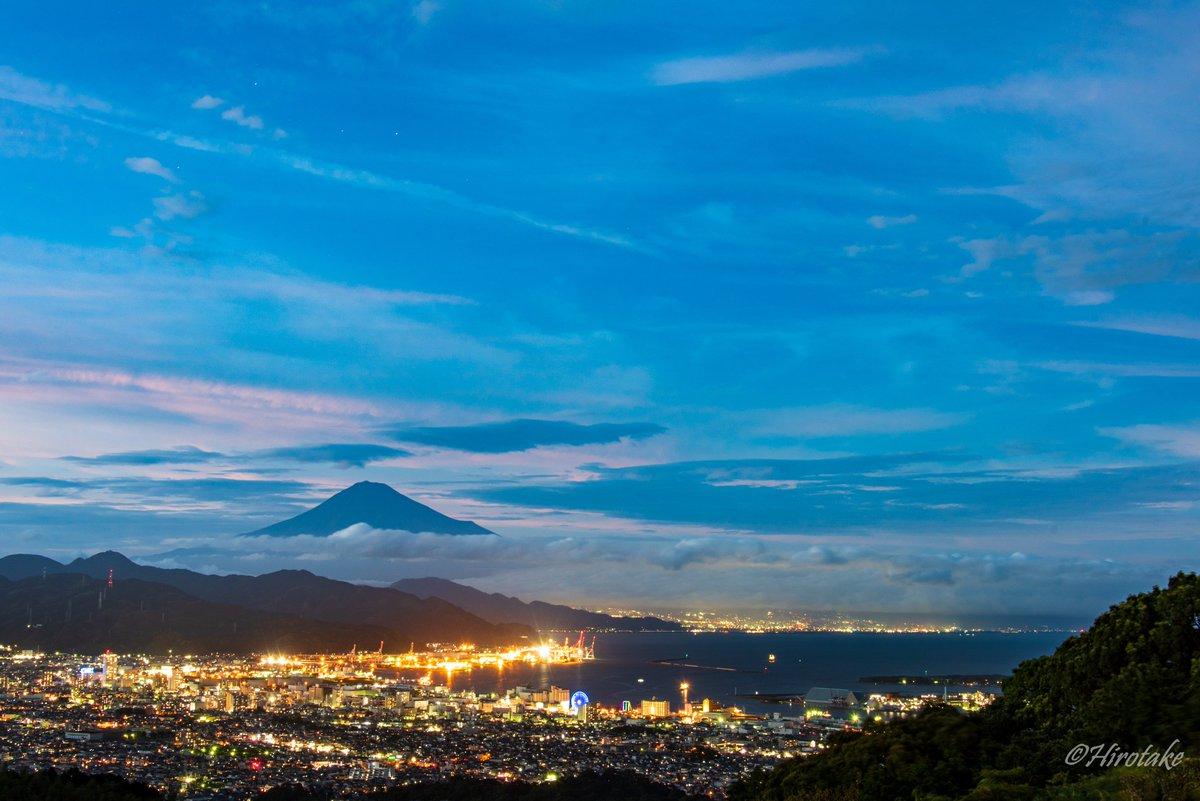 続いてブルーアワーの夜景 - Blue Hour August 10,2020 19:10pm - 日本平/静岡市清水区/静岡県 - Nikon D750 - #pashadelic #tokyocameraclub  #zekkei_delic_j #1x_japan #photo_travelers #nationalgeographic #photo_shorttrip  #japan #shizuokaprefecture #mtfuji  #日本 #静岡 #富士山pic.twitter.com/o29HsuNhcv