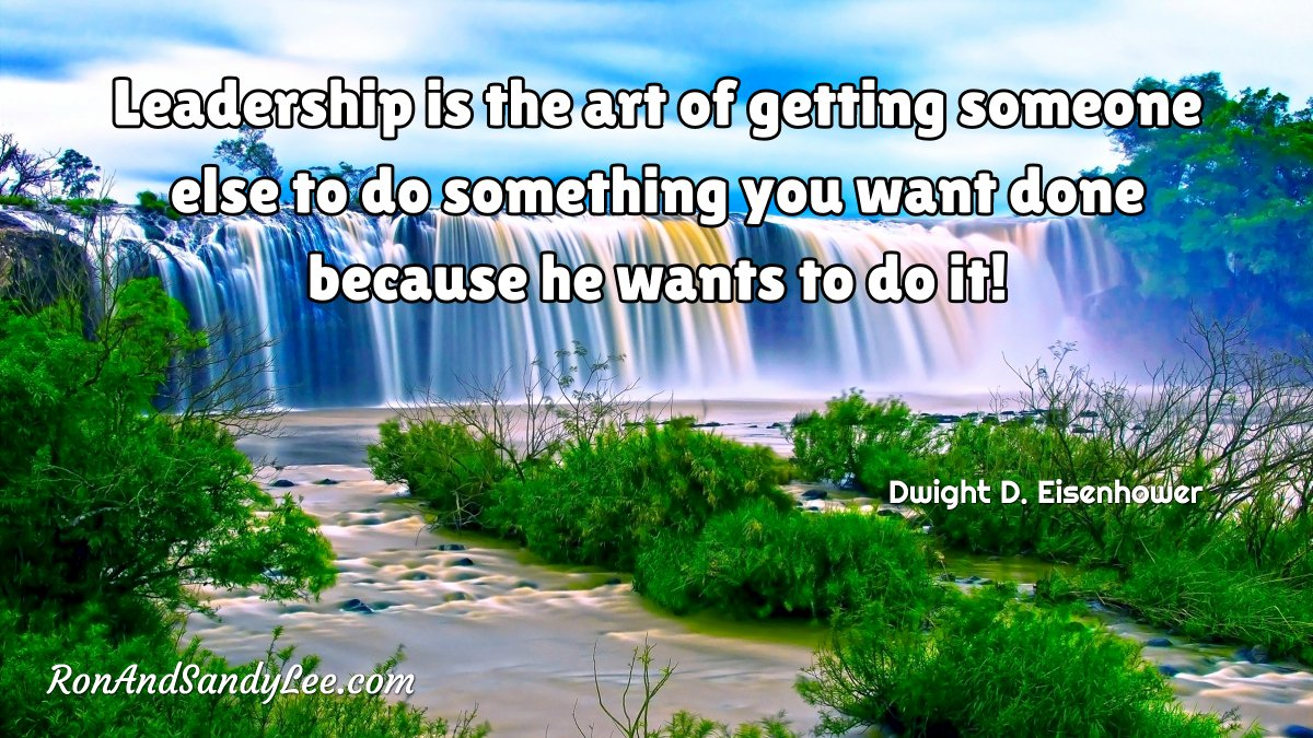 """Leadership is the art of getting someone else to do something you want done because he wants to do it!"" - Dwight D. Eisenhower An awesome leadership quality and a win-win for everyone!  #brandedcontent #billionairemindset #ceolife pic.twitter.com/JMxF8V8xhZ"