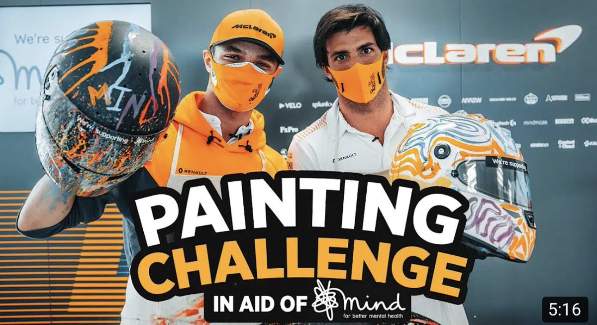 ‼️ ICYMI: Carlos Sainz and Lando Norris paint for Mind 🧡👊  🎥: https://t.co/jWvLtFaCbW  Don't forget, you can enter @McLarenF1's prize draw to win one of the special lids here ➡️ https://t.co/k70YlFmcsD  #McLarenHomeFest  #L4NDO #LN4 #F1 #F170 🇬🇧 https://t.co/u9qi9dVuC8