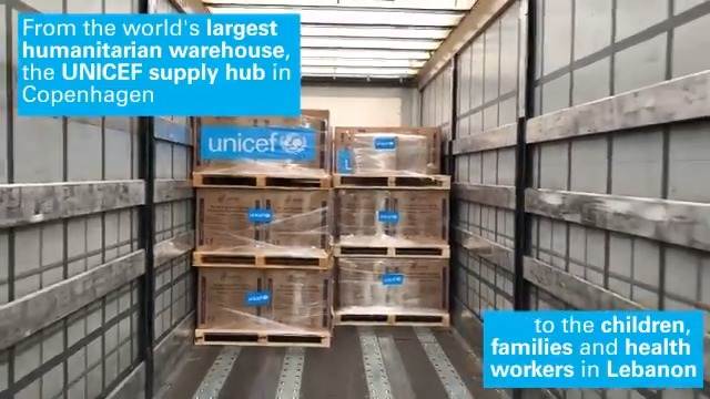 The #BeirutExplosions destroyed 10 containers of critical supplies. @UNICEF is already replacing them. Thousands of #PPE and medical items are en route to #Beirut from our Copenhagen supply hub to support @UNICEFLebanon's relief efforts and ongoing work for children in #Lebanon.