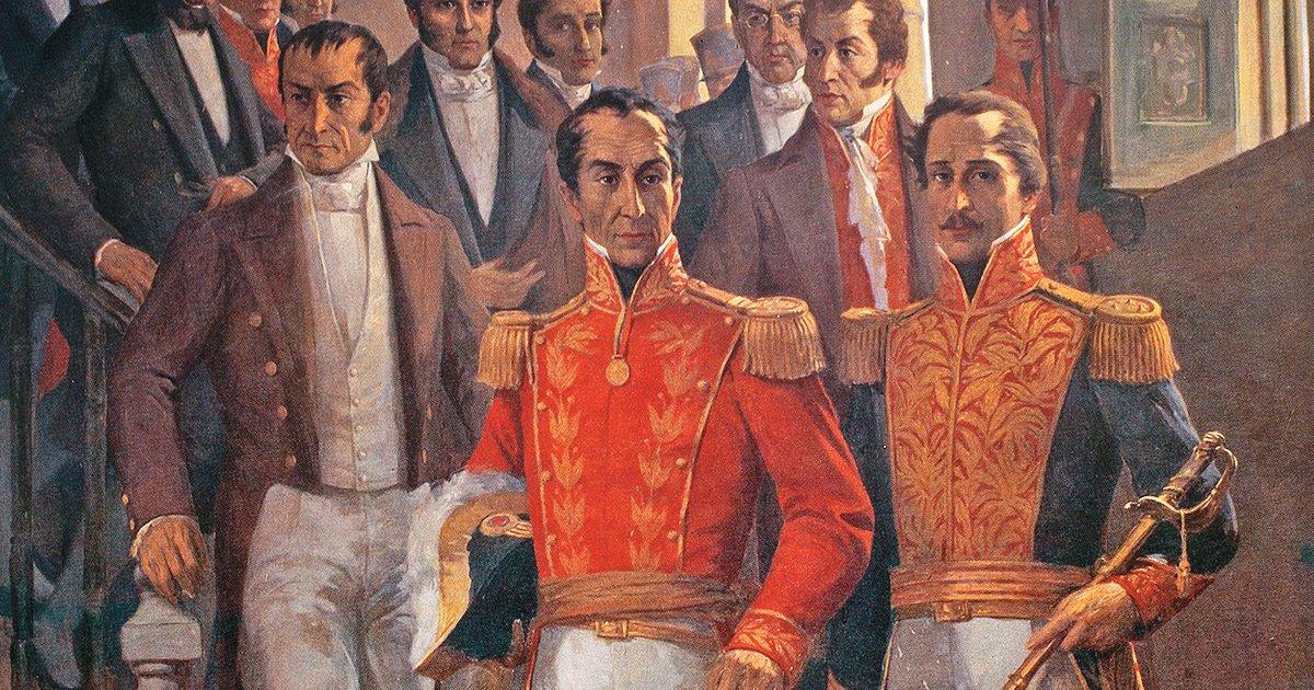 🗓️ #10Ago    En 1828, en el aniversario de la batalla de Boyacá, a la salida del entonces Teatro Coliseo, se registra un ataque con arma blanca contra el Libertador Bolívar, pero frustrado por la rápida intervención de doña Manuela Sáenz. #FlexibilizaciónParcialConsciente #FANB https://t.co/yDp5EWlQgk