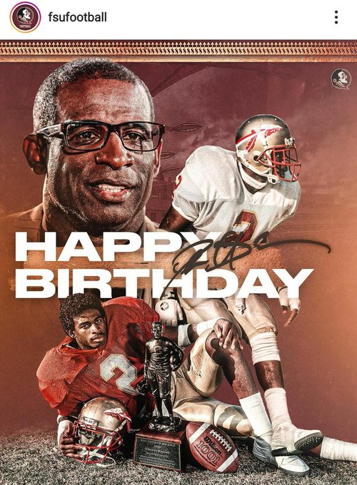 One of the greatest athletes alive. Happy birthday Deion Sanders