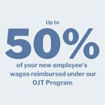 Image for the Tweet beginning: On-the-Job Training (OJT) lets you