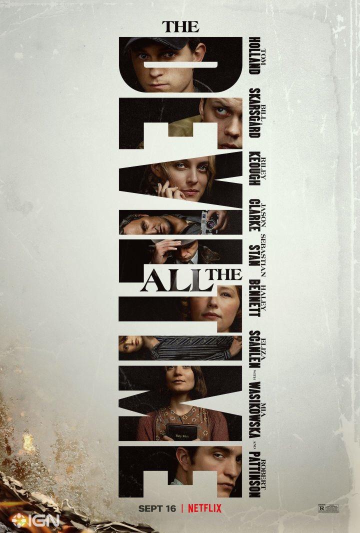 Se ha liberado el poster oficial de 'The Devil All The Time'.  La cinta protagonizada por Tom Holland, Robert Pattinson, Sebastian Stan, Bill Skarsgård, Riley Keough, entre otros, llegará a #Netflix el 16 de septiembre.pic.twitter.com/EJd3ES6M0y
