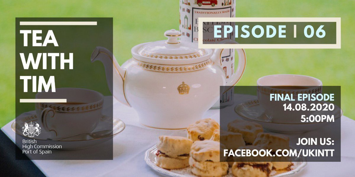 My final episode of #TeaWithTim launches on Friday! Tune in at 5pm with your favourite cuppa ☕️   The full episode will be available at: https://t.co/vUybjYZfwL https://t.co/Qd2PoCTJWa
