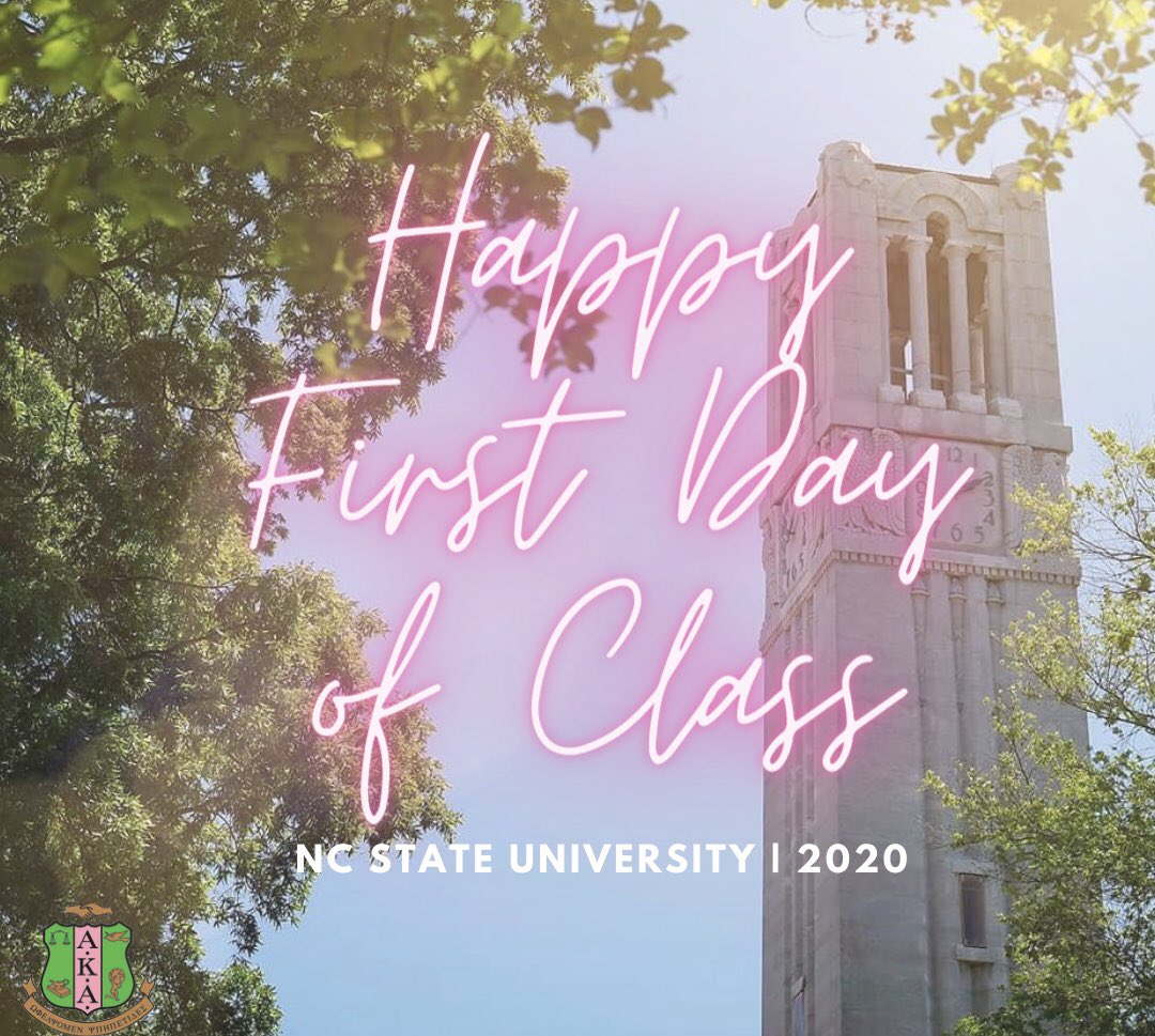 Happy FIRST day of class from the Kappa Omicron Chapter of Alpha Kappa Alpha Sorority, Inc. We know this semester is going to look different so look out for resources and tips this week on our IG stories! Have a wonderful FIRST day of class! 💖💚 #aka1908 #aka https://t.co/Q90EvlIFBt