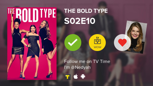 Acabo de ver el episodio S02E10 de The Bold Type #boldtype  #tvtime https://tvtime.com/r/1s0OCpic.twitter.com/ZTzqKYARAk