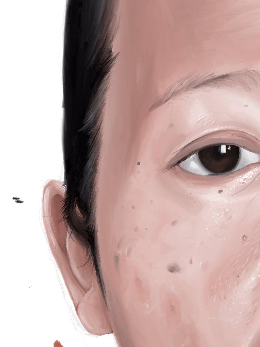 """Portrait11"" [Progress] .Digital Pencil & Acrylic . . #mukundaspages #portrait #art #paint #painting #portraitdrawing #draw #sketch #facesketch #artwork #progress #artoftheday #arts_help #wipart #artist #face #inspiration #instapic #digitalart #wip #draw #artistic #creator #paintpic.twitter.com/Crk4WjgwFz"