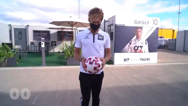 .@PierreGASLY has a challenge for you! ⚽️  Film yourself trying to beat Pierre's score and post it using #AlphaTauriChallenge - We will pick the best ones to share on our social media channels!   Good luck! 👊