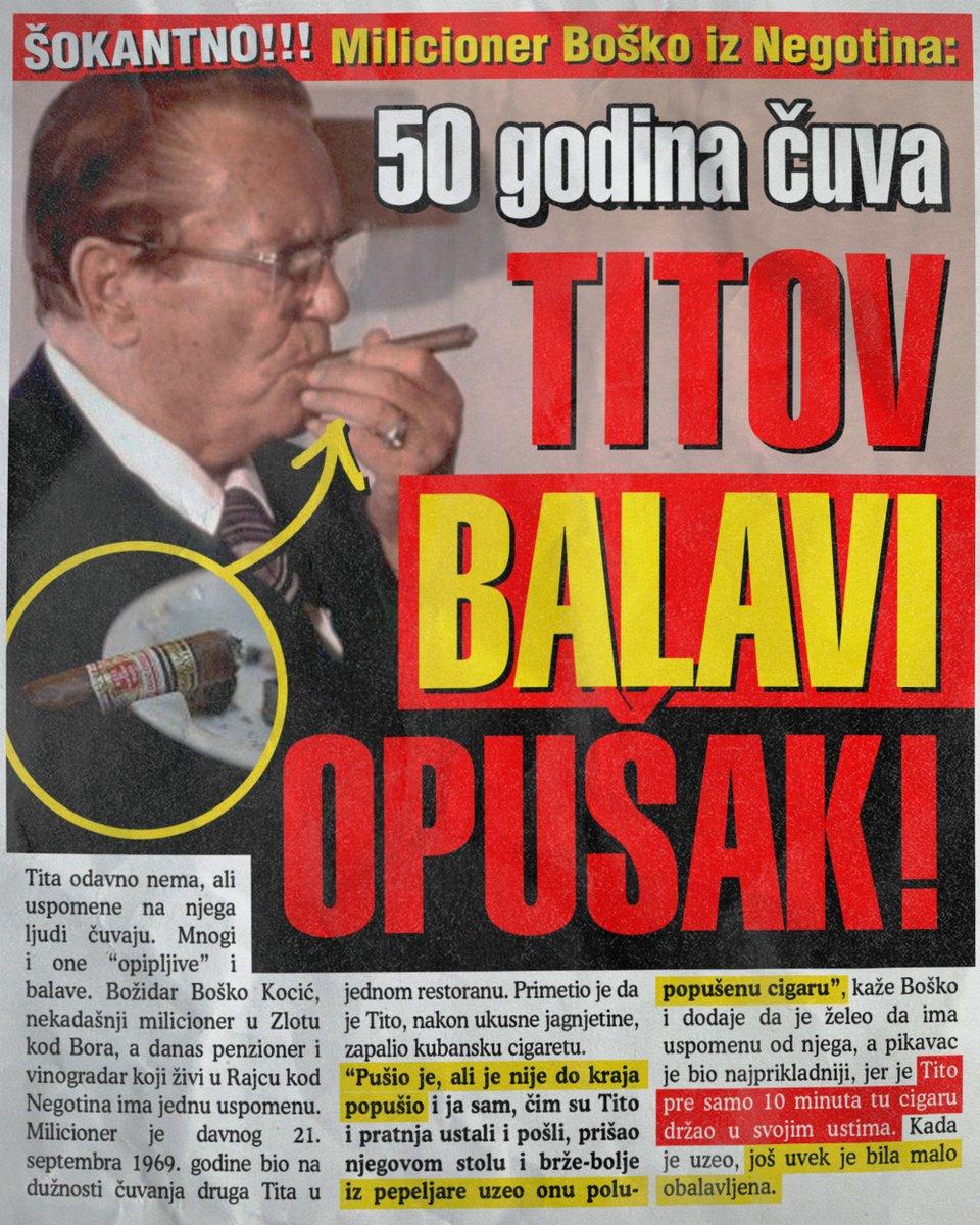 50 godina čuvam Titov balavi opušak cigarete (FOTO)