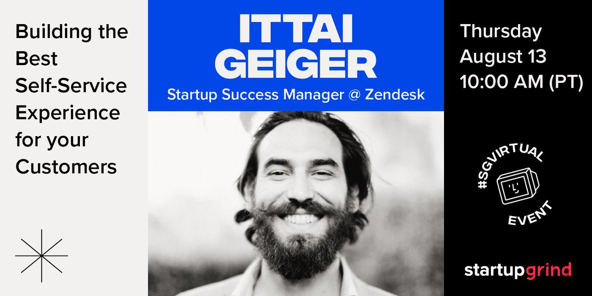 Your customers deserve the absolute best, they deserve @Zendesk.   Zendesk for Startups', Ittai Geiger, will help you quickly get started on scaling your support channel, building an effective self-service solution, and how to measure success. RSVP today! https://t.co/0pxFVMkPou https://t.co/woipFf4XHL