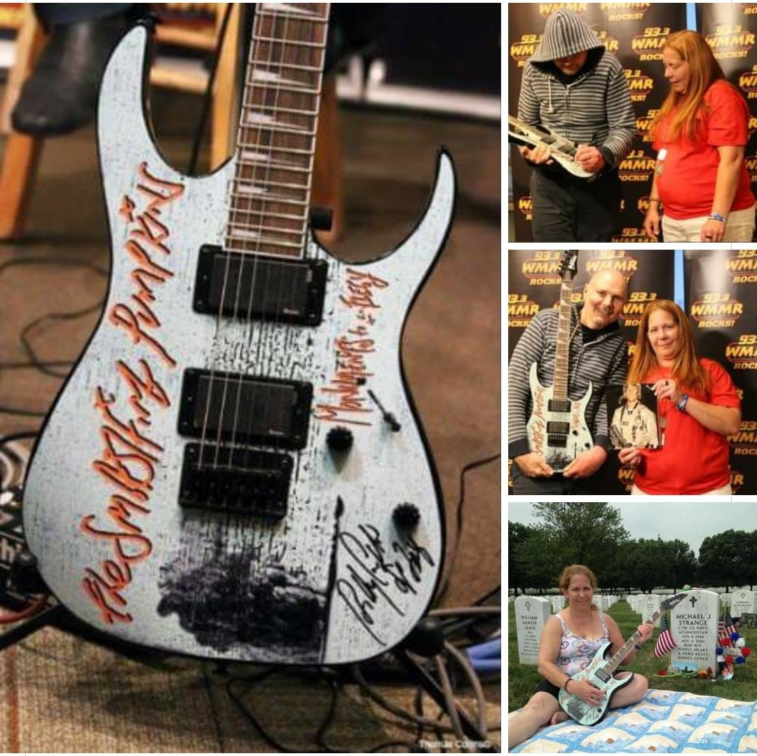 I just shared a memory of listener Elizabeth at Arlington cemetery visiting her late son Michael (who was killed in Afghanistan) with this signed @SmashingPumpkin guitar she won. Aidst great sadness, comes good karma! Pictures & full MMaRchive session here:https://t.co/Gsf7Juy44R https://t.co/cNWVkIYbaM