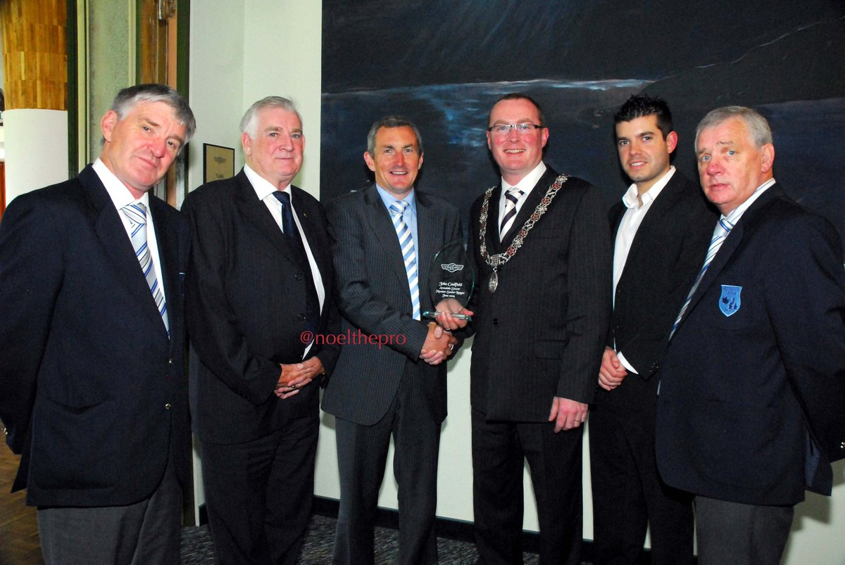 2006, SouthSide awards at the @No1CorkHotel John Caufield received the award for bringing the intermediate cup back to the club after 28 years. @CllrDesCahil presenting the award. Thanks to John who laid the foundations for our success. @DennehyLuke @CareyHire @DennehysHandF https://t.co/s9K0cnYqm9