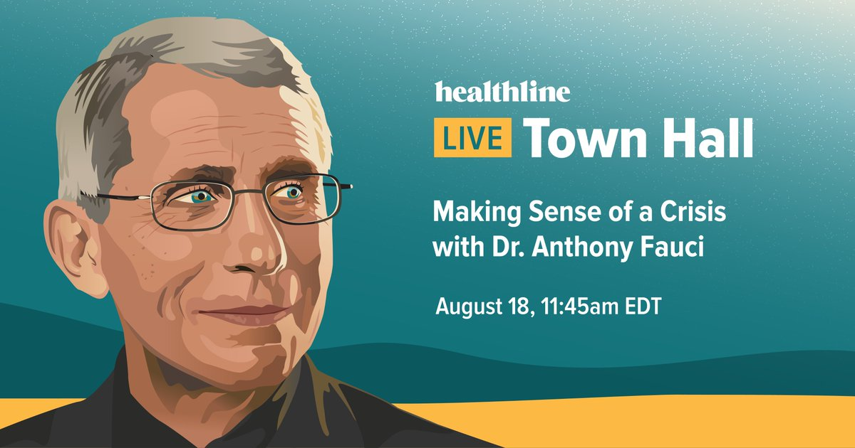 Managing uncertainty in the time of crisis can be difficult. We're looking for answers and bet you are too. So, we're talking to Dr. Anthony Fauci himself during a live Town Hall on August 18 — and you're invited! Add the event to your calendar here: https://t.co/w9egMdiwNz https://t.co/vMWq2sJtar