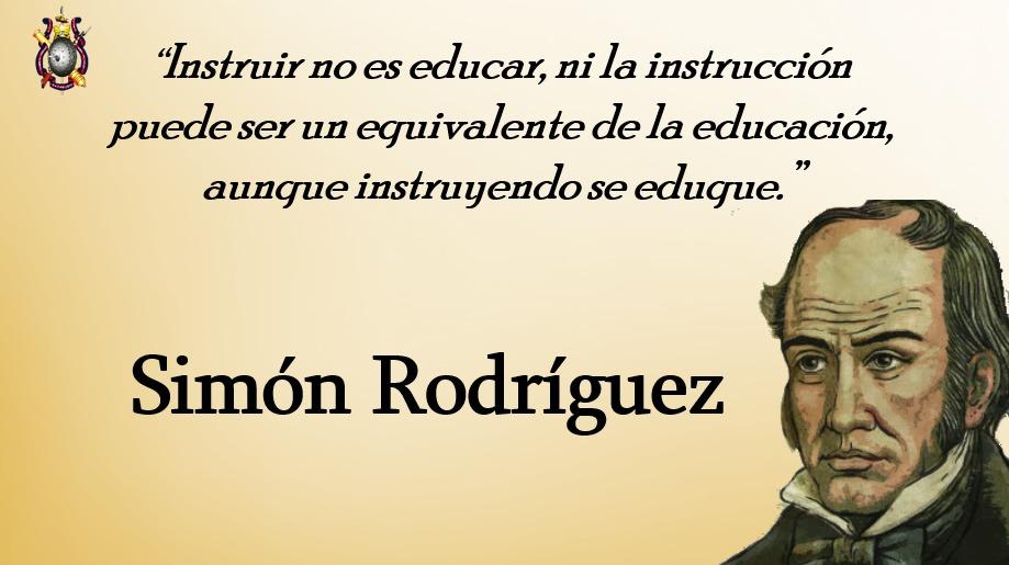 """""""Instruir no es educar, ni la instrucción puede ser un equivalente de la educación, aunque instruyendo se eduque."""" Simón Rodríguez. #EjercitoBolivarianoBicentenario  #FlexibilizacionParcialConsciente  #FANB https://t.co/HrkKvLRU0u"""