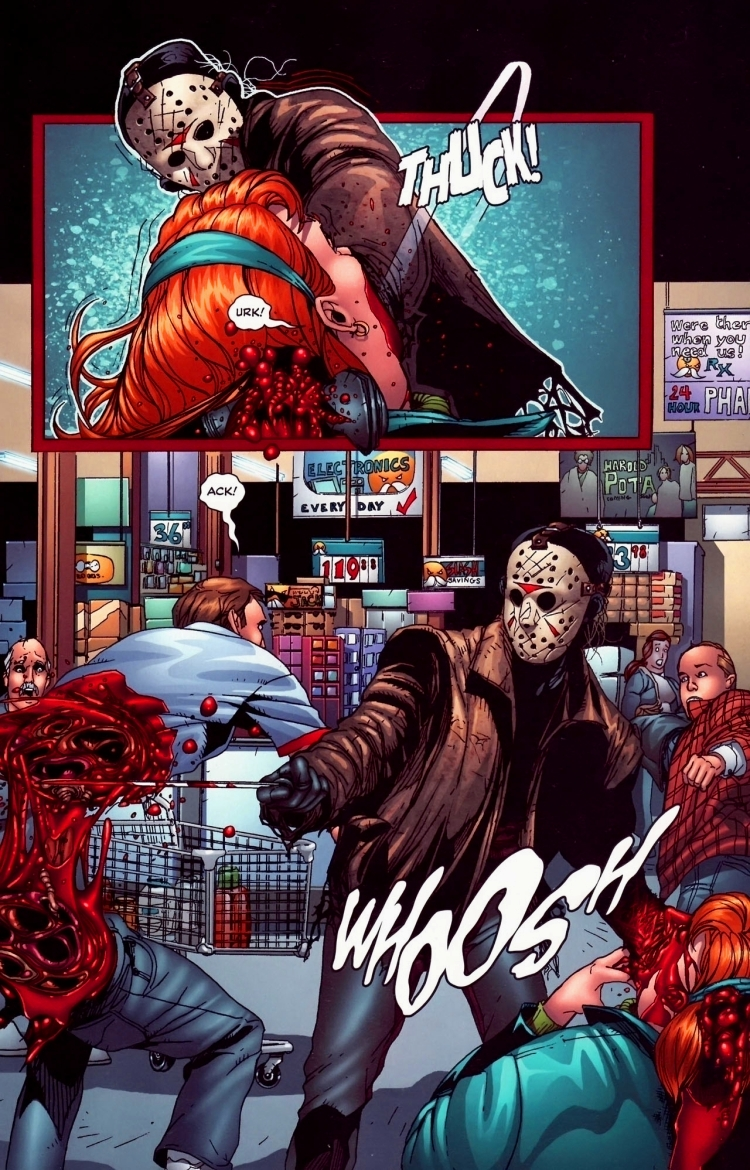 "Here's your daily random dose of #FridayThe13th #JasonVoorhees #Comics!  ""Freddy Vs Jason Vs Ash #3"", Wildstorm/Dynamite, 2008pic.twitter.com/hZb39oYKF4"