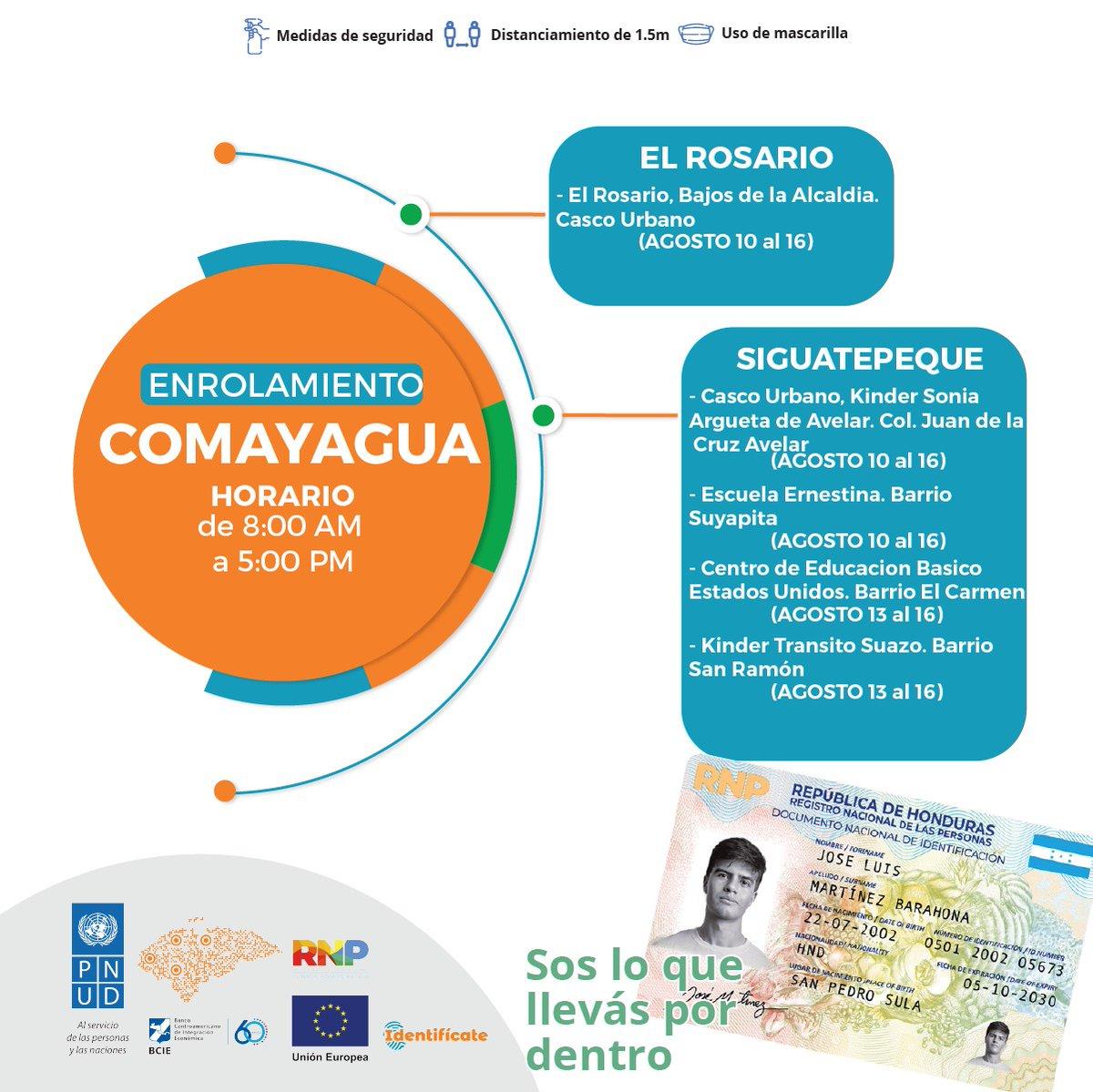 #Identifícate Comayagua ya estamos listos en los siguientes lugares solicita tu nuevo #DNI #JuntosSomosPatria.pic.twitter.com/pJ2yXl5wsw