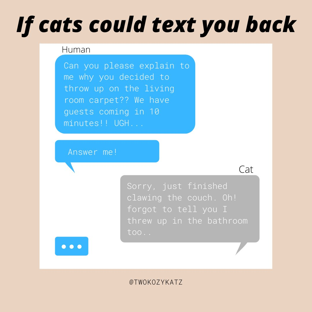 LOL! what would your cat text you?  . . . #catsoftheday #lol #catoverload #catfollowforfollow #ilovemycat #catloversclub #funnymemes #memesdaily #catsfunny #catlove #qualitymemes #catfollowtrain #lovecats #caturday #catoftheday #catmeme #gatosoninsta #catlife #catphotopic.twitter.com/VCDsS3AXa4