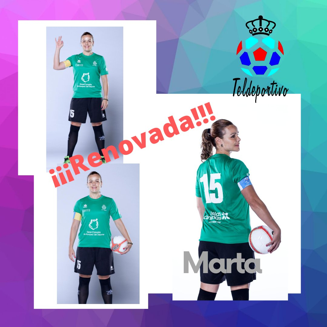 Marta, la capitana, con el Teldeportivo en Primera