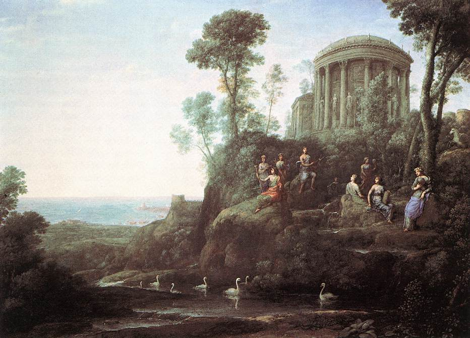 Apollo and the Muses on Mount Helicon, 1680 #lorrain #claudelorrain