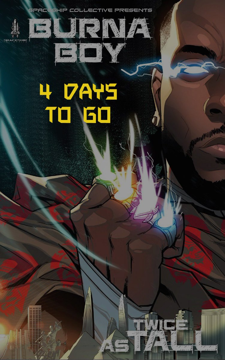 Burna Boy about to retell the entire African history come 14/08 4 days to go till the feasting season begins #TWICEASTALL