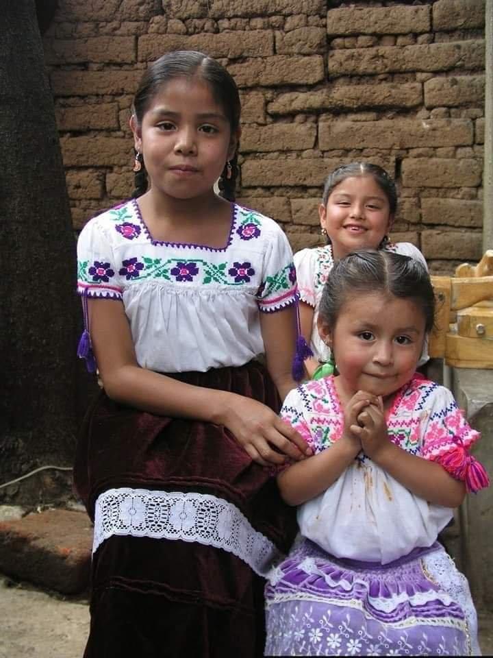 Michoacan del #náhuatl Michhuahcan que quiere decir «en donde hay pescadores»   Niñas de San Joseéde Gracia, Michoacan.  Cultura de México pic.twitter.com/u7T4YtwX7e